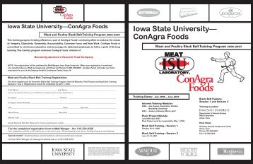 Black Belt Brochure - Conference Planning and Management - Iowa ...