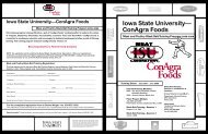 Meat and Poultry Black Belt Training Program - Iowa State University