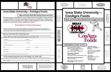Meat and Poultry Black Belt Training Program - Iowa State University