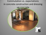 Commutation vs. expectations in concrete construction and dressing ...