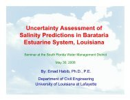 Uncertainty Assessment of Salinity Predictions in Barataria ...