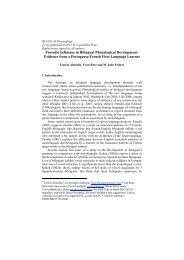 Bilingual Phonological Development - Memorial University of ...