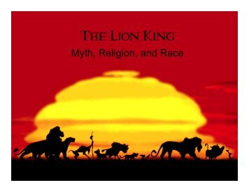 Disney THE LION KING   Education Materials