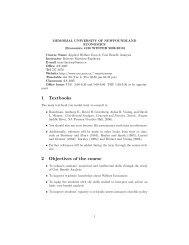 1 Textbooks 2 Objectives of the course - Memorial University of ...