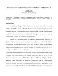 European security and transatlantic relations after Kosovo and ...