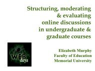Structuring, moderating & evaluating online discussions in ...