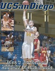 2006-07 UCSD Men's Basketball Media Guide - UC San Diego ...