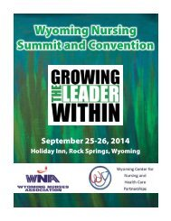 2014 Wyoming Nursing Summit and Convention