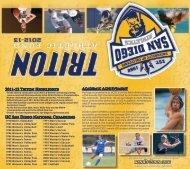 2012-13 TAF Brochure - UC San Diego Athletics