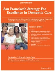 San Francisco's Strategy For Excellence In Dementia Care