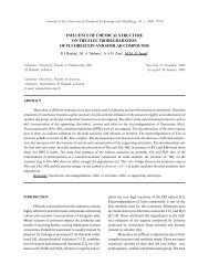 influence of chemical structure on the electrodegradation of ...