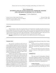 determination of tannins content by titrimetric method for comparison ...
