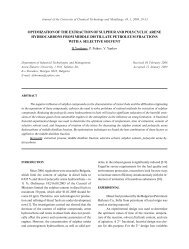optimization of the extraction of sulphur and polycyclic arene ...