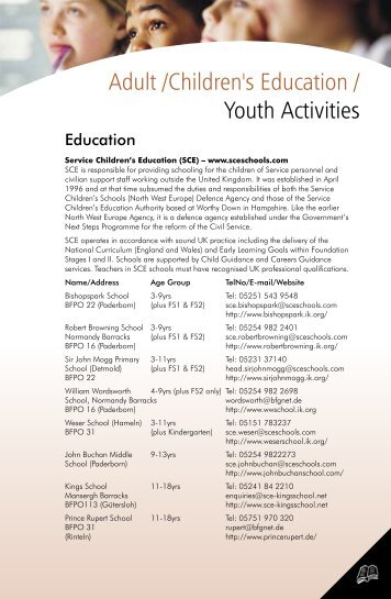 Adult /Children's Education / Youth Activities