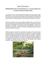 Servicio Comunitario APRENDIENDO CON LA NATURALEZA en el ...