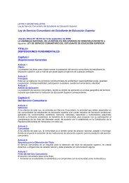 Ley de Servicio Comunitario - Coordinación Cooperación Técnica