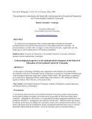 Una perspectiva cronológica del desarrollo institucional de la ...