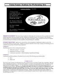 2012-2013 Academy for Performing Arts School Profile