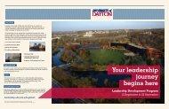 Program Brochure (PDF) - University of Dayton