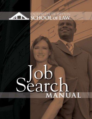 UDSL Job Search Manual - University of Dayton
