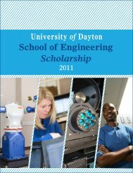 Research and - University of Dayton