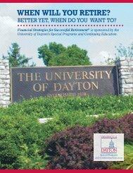 WHEN WILL YOU RETIRE? - University of Dayton