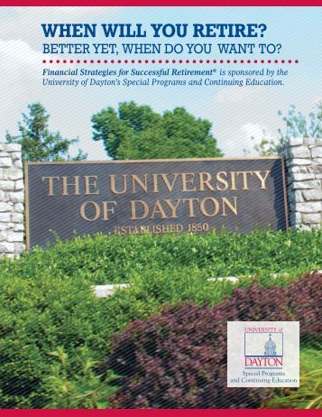 WHEN WILL YOU RETIRE? - University of Dayton