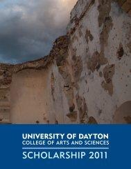 Scholarship 2011 (pdf) - University of Dayton