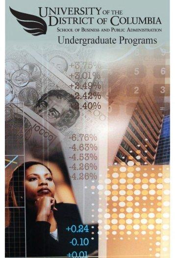 Undergraduate Information Brochure - University of the District of ...