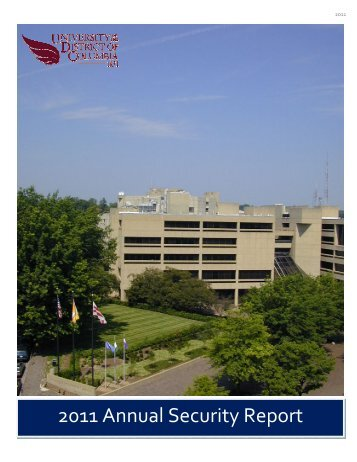 2011 Annual Security Report - University of the District of Columbia