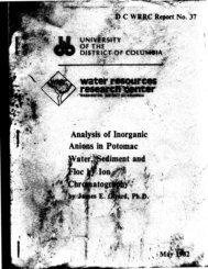 Report N.37: Analysis Of Inorganic Anions In Potomac Water ...