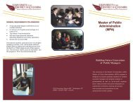 MPA Brochure - University of the District of Columbia
