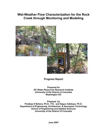 Wet-Weather Flow Characterization for the Rock Creek through ...