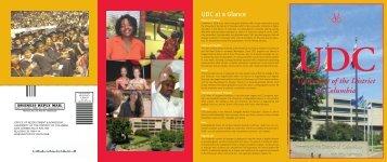 UDC Brochure - University of the District of Columbia