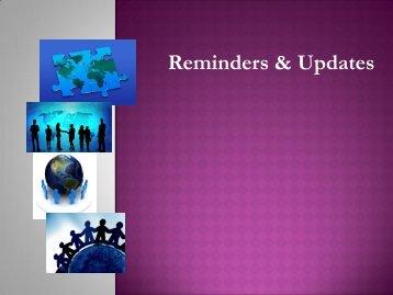 Reminders Updates