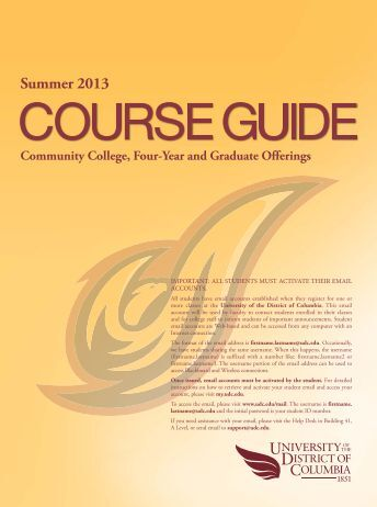 Course Guide Summer 2013_2-13-2013.indd - University of the ...