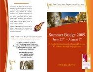 Summer Bridge 2009 - University of the District of Columbia