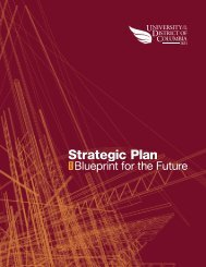 2011 Strategic Plan - University of the District of Columbia