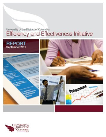 Efficiency Report - University of the District of Columbia