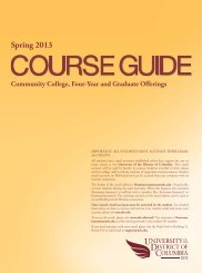 Spring 2013 Course Guide PDF - University of the District of Columbia