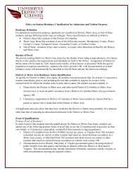 Policy on Student Residency Classification for Admissions and ...