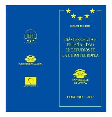 Máster en Derecho: Especialidad en Estudios de la Unión Europea