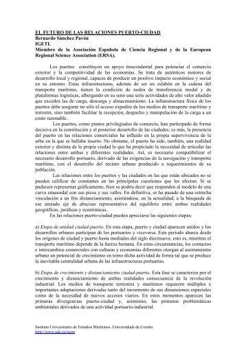 El futuro de las relaciones puerto-ciudad - Universidade da Coruña