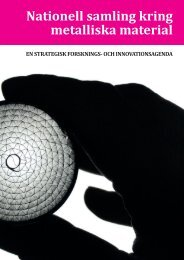 Nationell samling kring metalliska material - Uddeholm