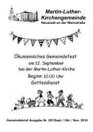 GB Nr. 281Onlineversion - Evangelische Kirche der Pfalz