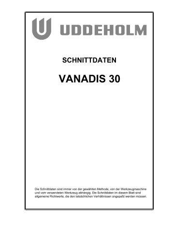 schnittdaten vanadis 30
