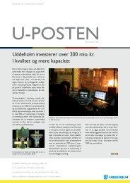 Uddeholm investerer over 200 mio. kr. i kvalitet og ... - Uddeholm A/S