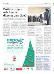Partidos exigen más fondos directos para UdeC - Universidad de ...