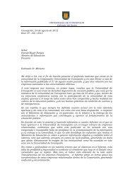 carta al ministro de Educación - Universidad de Concepción