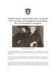 Discurso de don Enrique Molina del 3 de julio de 1955, con motivo ...